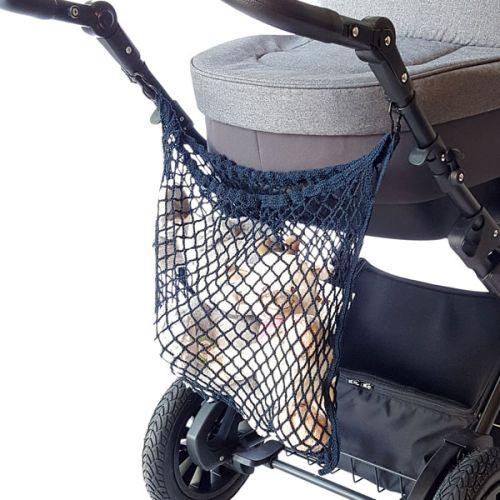 Titanium handlenett til barnevogn, blått