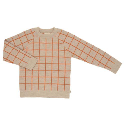 Voksi® Wool, Merinoull Mønster Genser, Melange Sand