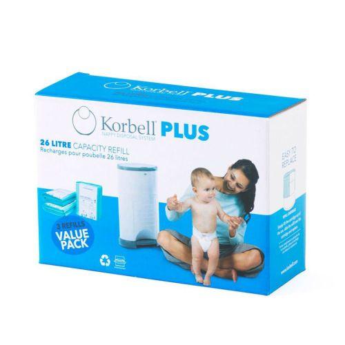 Refill, Korbell Pluss, 3 pk.