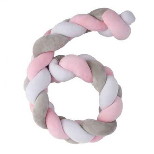 Plastimyr Twist, flettekant, rosa 120 cm