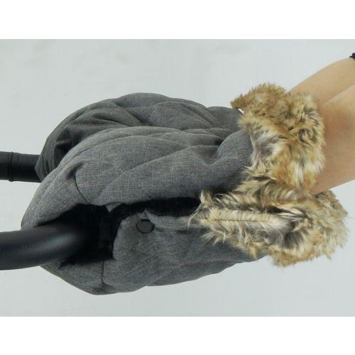 Bozz Håndvarmer, Grey melange squares fur