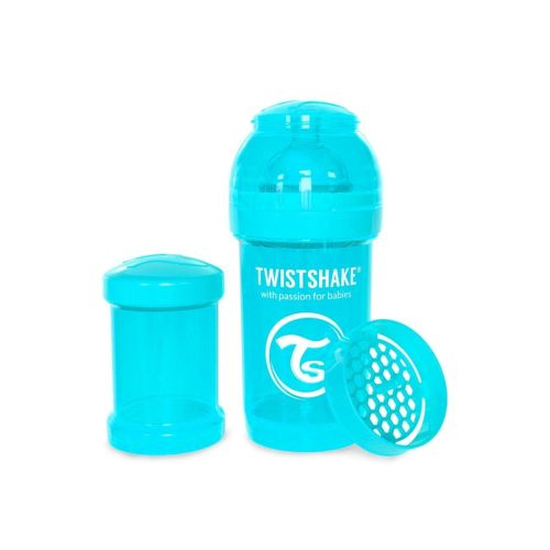 Flaske, Twistshake, Anti-Colic - 180ml, Pastell Blå