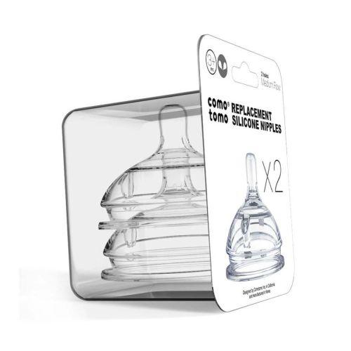 Comotomo silikon flaskesmokk medium flow 3-6 mnd, 2pk