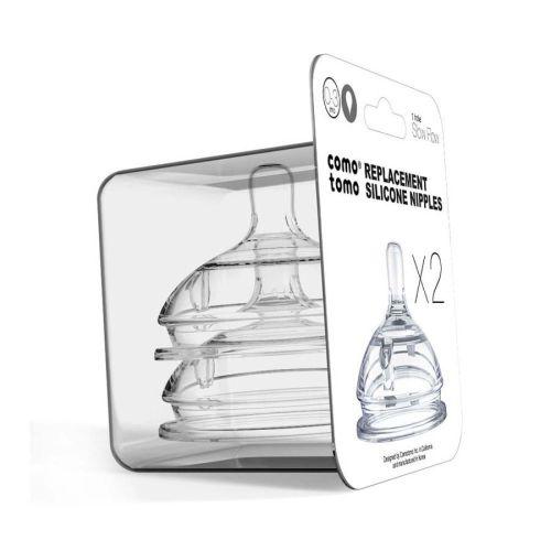 Comotomo silikon flaskesmokk fast flow 6+ mnd, 2 pk