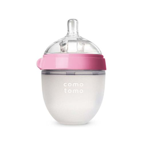 Comotomo tåteflaske natural feel rosa 150 ml