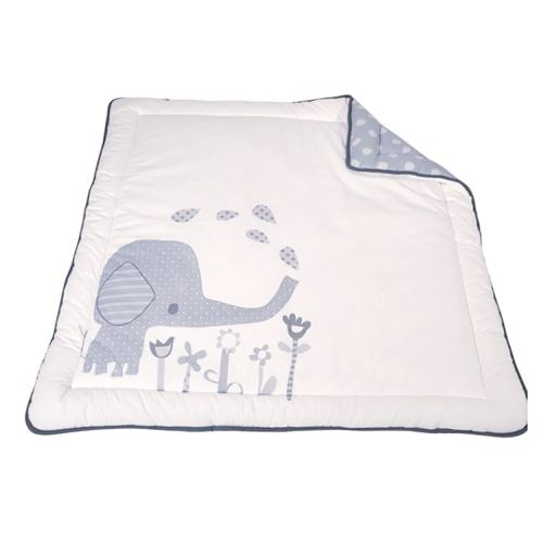 Babydan leketeppe, Elefantastic grey, 110x110 cm