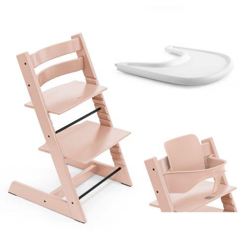 Pakke, Stokke Tripp Trapp, Ink Baby Set + Tray, Serene Pink