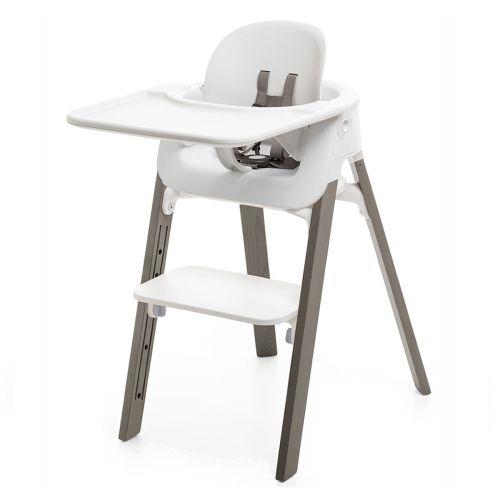 Pakke, Stokke® Steps White Hazy Grey + Baby Set + Tray