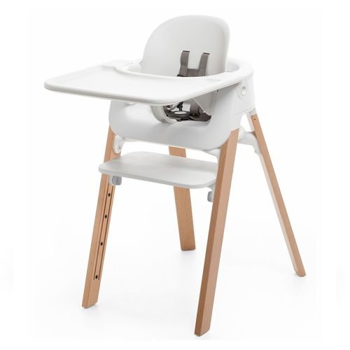 Pakke, Stokke® Steps White Natur + Baby Set + Tray