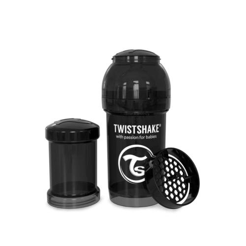 Flaske, Twistshake, Anti-Colic - 180ml,  Sort
