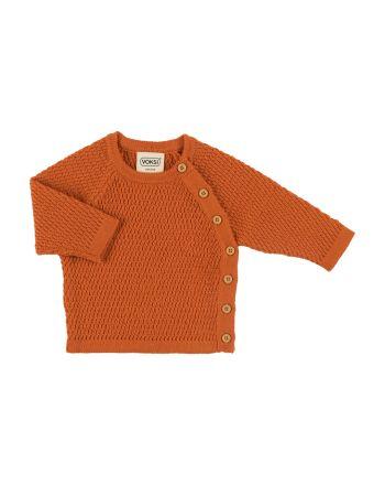 Voksi Wool, Honeycom Genser, Warm Orange