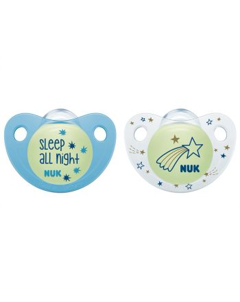 NUK Smokk, Night & Day Silicon Blue 0-6 mnd