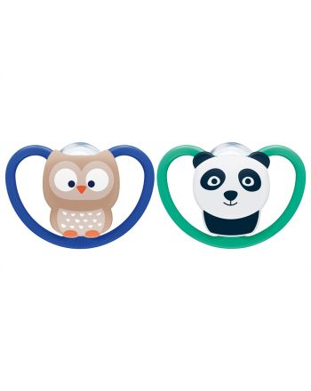 NUK, Smokk, Silicon, Ugle/Panda, 6-18 mnd