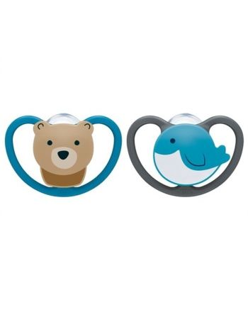 NUK Smokk,Pacifier Space Bear/Whale 2pk, 18-36mnd