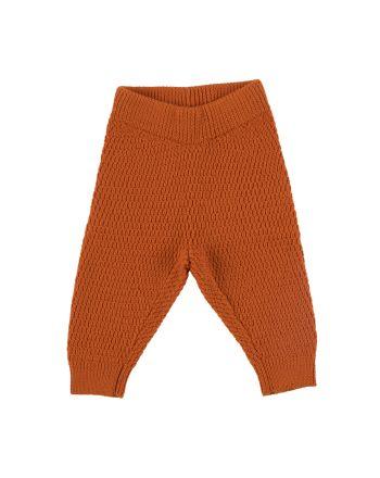 Voksi Wool, Honeycomb Bukse, Warm Orange