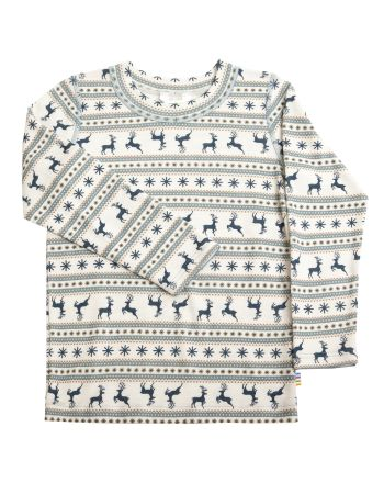 Joha,Blouse w/long sleeves - Jumping Deer, Navy