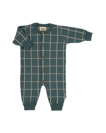 Voksi® Wool, Merinoull Mønster Jumpsuit, Sea Green
