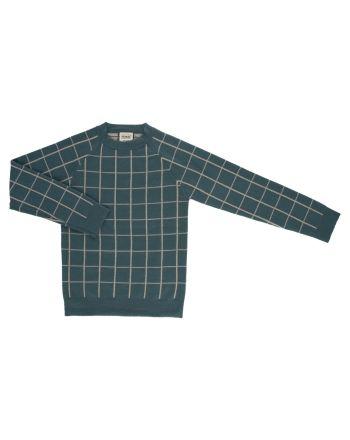 Voksi® Wool, Merinoull Mønster Genser, Sea Green