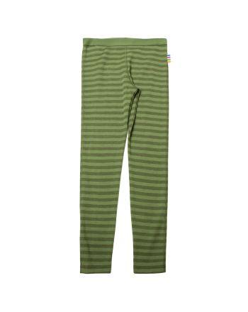 Leggings, Joha, Ull, Striper, Grønn
