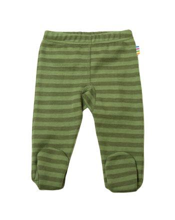 Leggings, Joha, Striper m/fot, Grønn