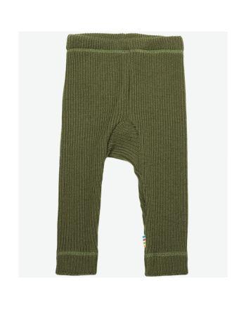 Leggings, Joha, Ribbestrikk, Grønn