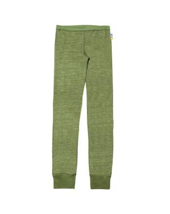 Leggings, Joha, Ull/Bambus, Grønn