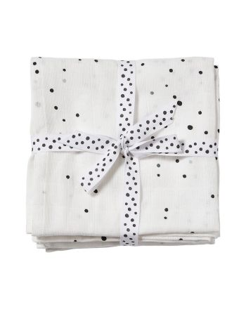 Gulpeklut, Dreamy Dots, White, Done By Deer, 2pk