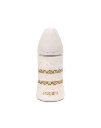 Couture tåteflaske, Suavinex, Hvit, 270 ml