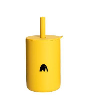 Kopp med sugerør, My1ofNorway, Mustard