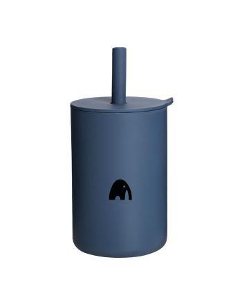 Kopp med sugerør, My1ofNorway, Navy Blue
