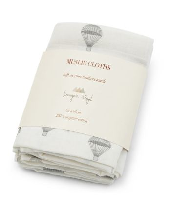 Muslin, Konges Sløjd, 3pk - Parachute Creme, One Size