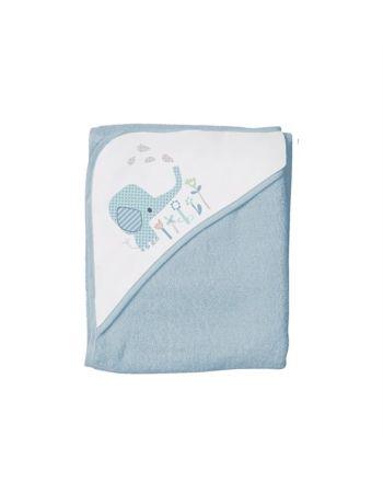 Badehåndkle, Babydan, Elefantastic - 90X90cm, Blå