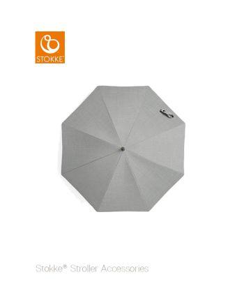 Stokke® barnevogn parasoll, grey melange/black