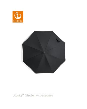 Stokke® barnevogn parasoll, black/black