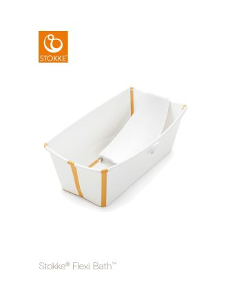 Stokke® Flexi Bath inkl. newborn support, White yellow