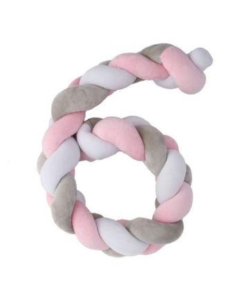 Plastimyr Twist, flettekant, rosa 200 cm