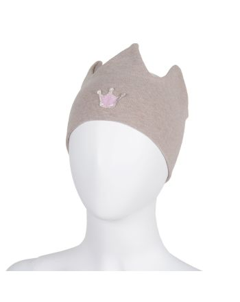 Kivat Kronepannebånd - Beige m/rosa krone