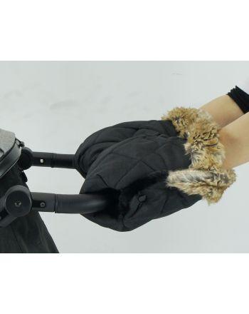 Bozz Håndvarmer, Black melange squares fur