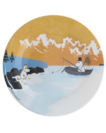 Mummi tallerken, Skog & Sjø, orange