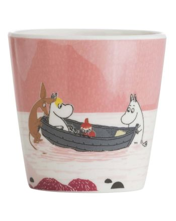 Mummi kopp m/håndtak, Skog & Sjø, rosa
