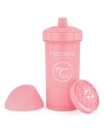 Tutekopp, Twistshake, 360ml, Pastell Rosa, 12+m