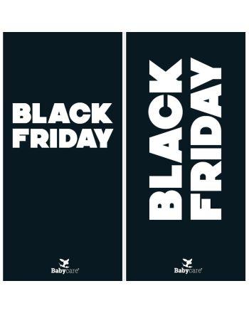 Plakat, BLACK FRIDAY, 30 x 70 cm (tosidig)