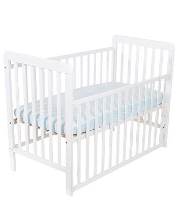 Sprinkelseng med dropside, BabySleep 60 x 120 cm, Hvit