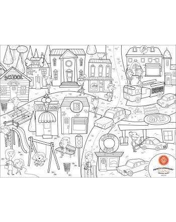 Prince Lionheart Colour & Draw mat, CITY