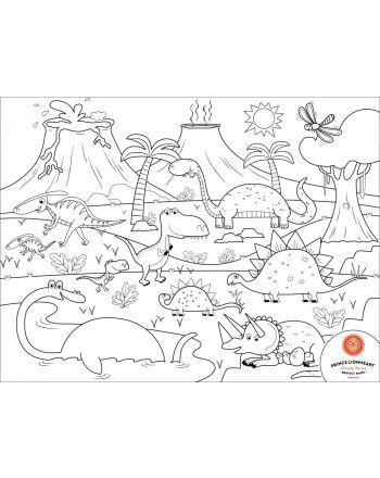 Prince Lionheart Colour & Draw mat, DINO