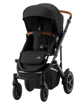 Barnevogn, Britax Smile III, Space Black/Brown Handle
