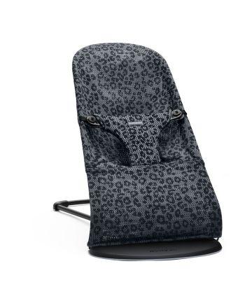BabyBjørn Bliss Vippestol, Mesh, Antracitgrå/Leopard