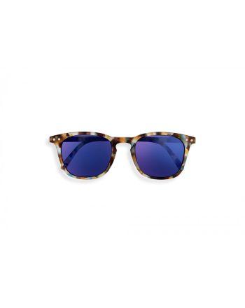 IZIPIZI® #E Sun Junior solbriller 5-10 år, Blue Tortoise Mirror