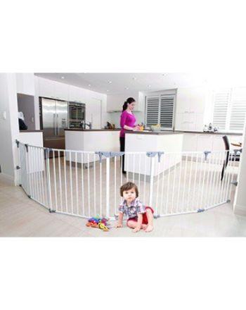 Dreambaby Sikkerhetsgrind 3i1 m/6 seksjoner, hvit