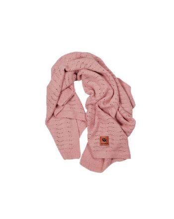Easygrow Grandma Wave Blanket, Warm Pink Melange